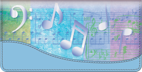 Music Speaks Checkbook Cover