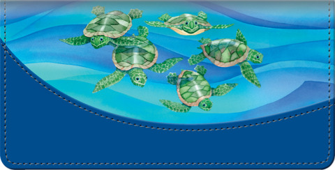 Turtle Tides Checkbook Cover