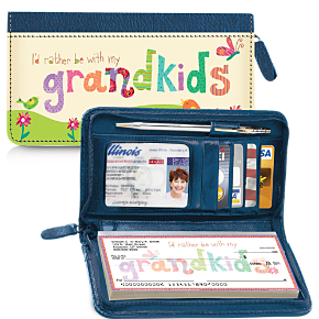 Grandkids Rule! Zippered Wallet Checkbook Cover