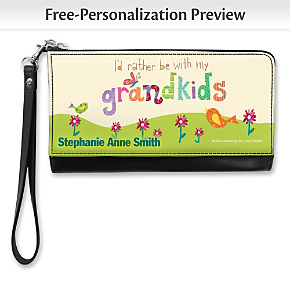 Grandkids Rule! Large Wristlet Purse 1800437086
