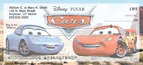 Disney/Pixar Cars Personal Check Designs