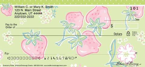 Strawberry Fields Personal Checks
