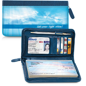 New Day Zippered Wallet Checkbook Cover