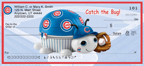 MLB 	® Chicago Cubs	® - Catch the Bug! Personal Check Designs