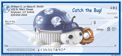 (R)MLB(R) New York Yankees(R) - Catch the Bug! Personal Check Designs