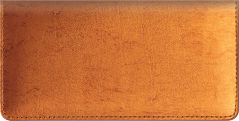 Metallic Copper Checkbook Cover