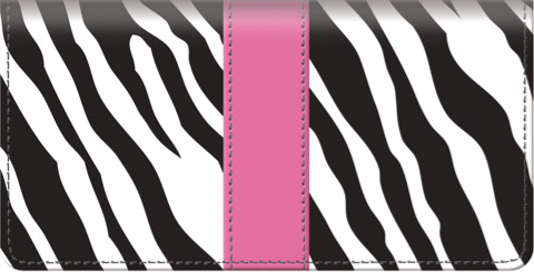 Zebra Print Checkbook Cover