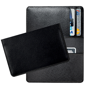Black Leather Debit Card Holder
