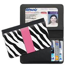 Zebra Print Debit & Credit Card Holder
