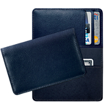 Navy Leather Debit and Credit Card Holder