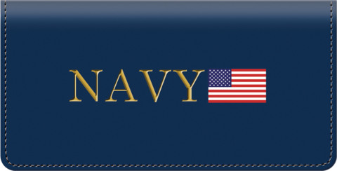 US Navy Leather Checkbook Cover