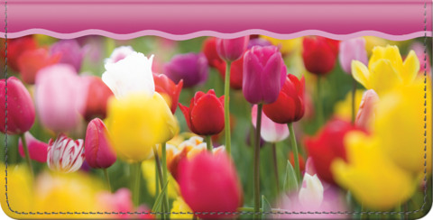 Tulips Checkbook Cover