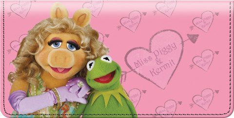 Miss Piggy Loves Kermie Checkbook Cover