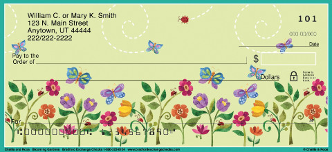 Challis & Roos Blooming Gardens Personal Checks