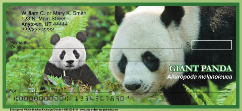 Endangered Species Personal Check Designs