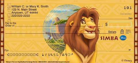 The Lion King Personal Check Designs