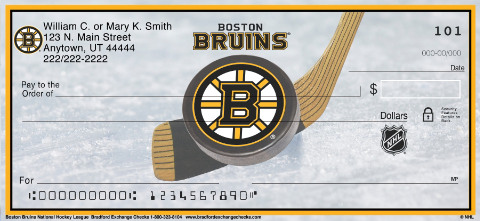 Boston Bruins(R) NHL(R) Personal Checks