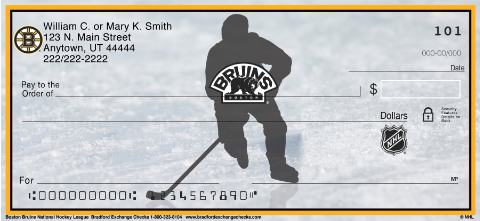 Boston Bruins National Hockey League Personal Checks