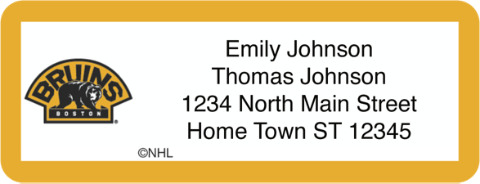 Boston Bruins(R) NHL(R) Return Address Label