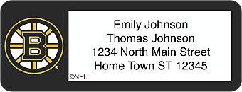 Boston Bruins® NHL® Return Address Label