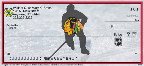 Chicago Blackhawks National Hockey League Personal Checks