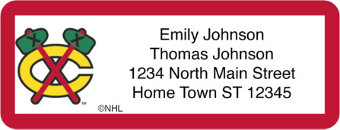 Chicago Blackhawks(R) NHL(R) Return Address Label