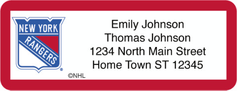New York Rangers(R) NHL(R) Return Address Label