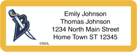 Buffalo Sabres(R) NHL(R) Return Address Label