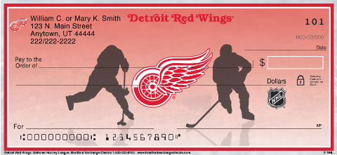 Detroit Red Wings National Hockey League Personal Checks