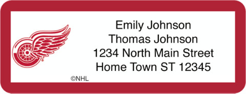 Detroit Red Wings(R) NHL(R) Return Address Label