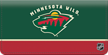 Minnesota Wild National Hockey League Checkbook Cover