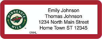 Minnesota Wild® NHL® Return Address Label