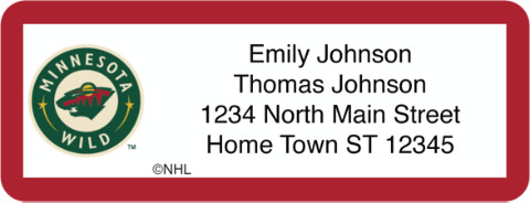 Minnesota Wild(R) NHL(R) Return Address Label