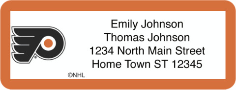 Philadelphia Flyers(R) NHL(R) Return Address Label