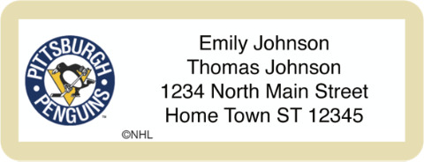 Pittsburgh Penguins(R) NHL(R) Return Address Label