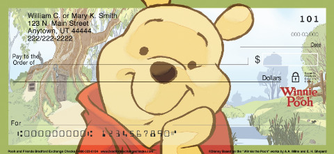 Pooh and Friends Personal Check Designs