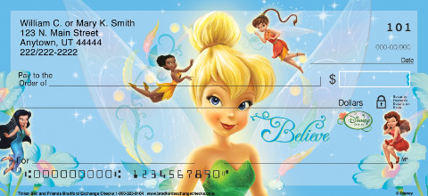 Tinker Bell and Friends Personal Check Designs