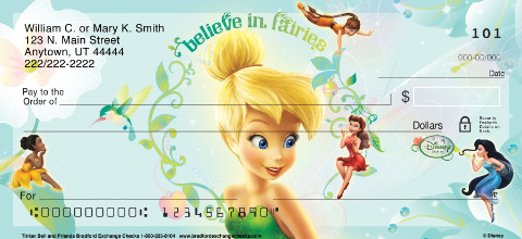 Tinkerbell & Friends Personal Checks
