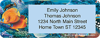 Lassen Under the Sea Return Address Label