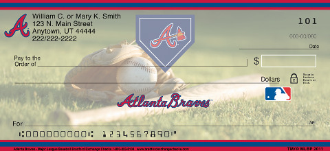 Atlanta Braves(TM) Major League Baseball(R) Personal Check Designs