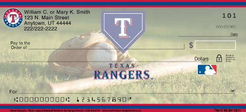 Texas Rangers(TM) MLB(R) Personal Checks