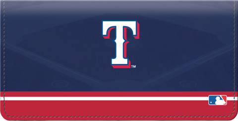 Texas Rangers Logo Checkbook Cover