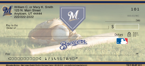 Milwaukee Brewers MLB Checks