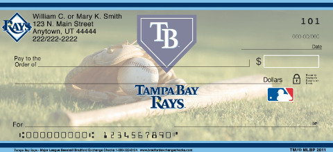 Tampa Bay Rays Major League Baseball Personal Checks