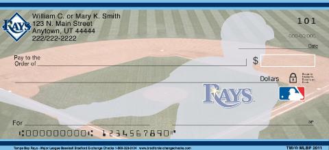 Tampa Bay Rays Major League Baseball Personal Checks
