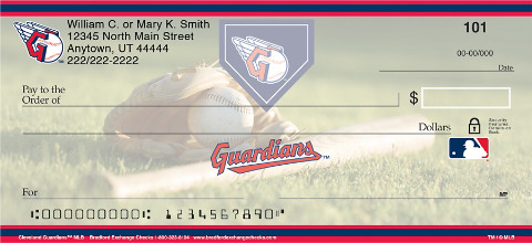 Cleveland Indians Major League Baseball Personal Checks