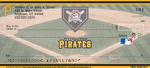 Pittsburgh Pirates Major League Baseball Personal Checks