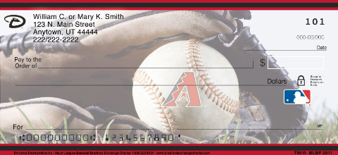 Arizona Diamondbacks Major League Baseball Personal Checks