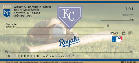 Kansas City Royals Major League Baseball Personal Checks