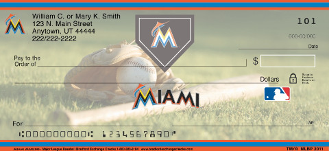 Miami Marlins(TM) Major League Baseball(R) Personal Check Designs